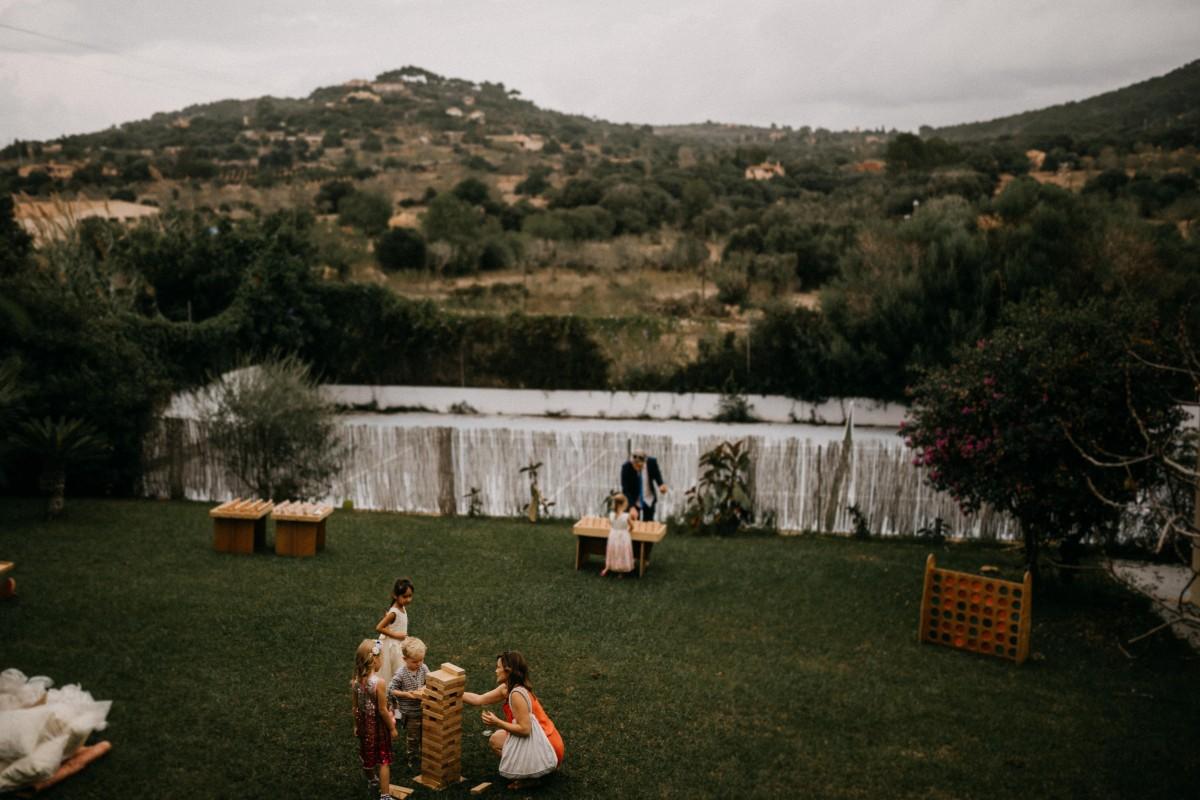Outdoor-Spiele fuer die Gaeste bei einer Hochzeit auf Mallorca