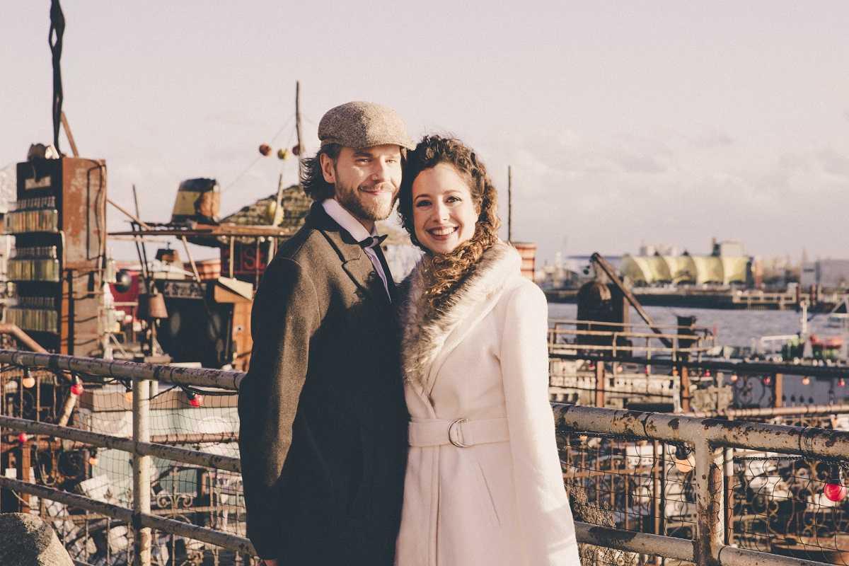 Hochzeit im Hamburger Hafen