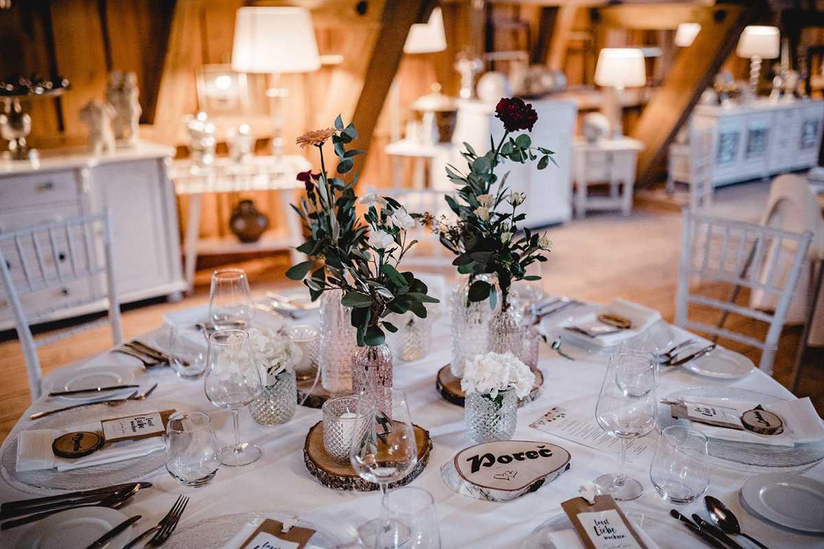 Tischdekoration im Hofgut Bärenschlössle