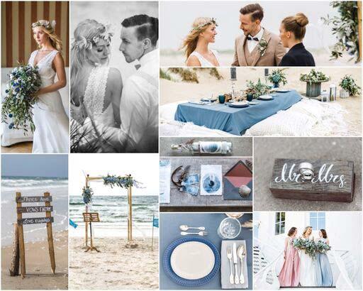 Strandhochzeit collage