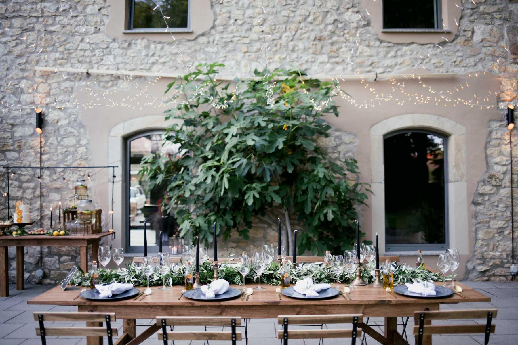 Gedeckter Tisch mediterrane Hochzeit